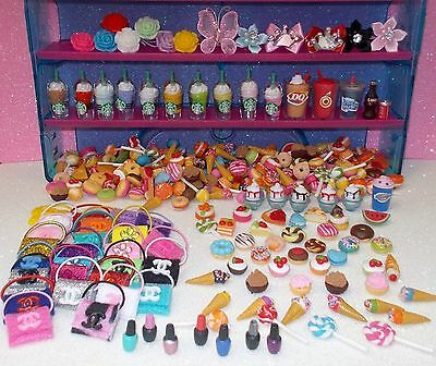 Littlest Pet Shop 8 Random Accessories Starbucks Purses Bows Soda Cupcakes  +++  - Littlest Pet Shop Cupcakes