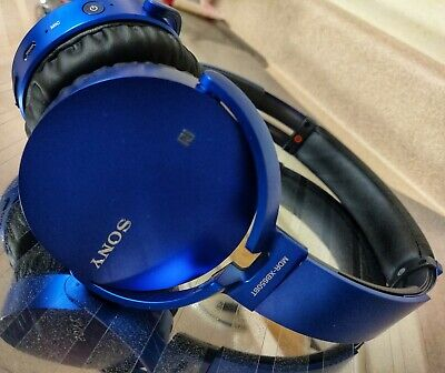 SONY MDR-XB650BT/L EXTRA BASS™ WIRELESS HEADPHONES | BLUETOOTH | BLUE | **READ**