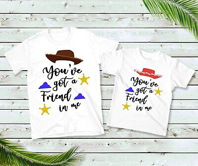 You've Got A Friend In Me T-Shirts, Kids Matching Toy Tshirt Story Gift Youve