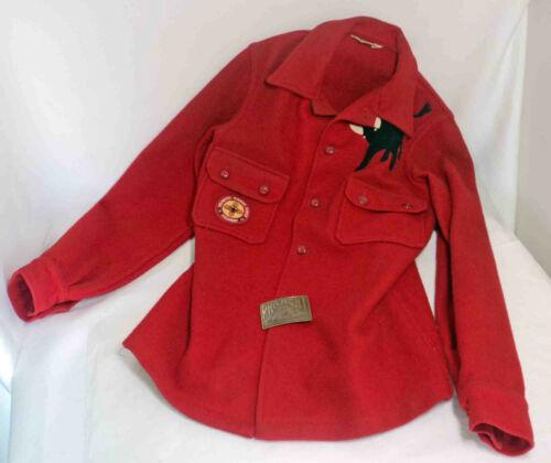Vintage BSA PHILMONT RED WOOL JACKET w/Philmont Belt Buckle