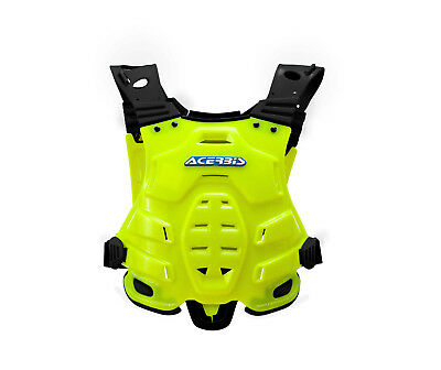 New Adult Acerbis Profile Body Armour Motocross Neck Brace Compatible Flo Yellow