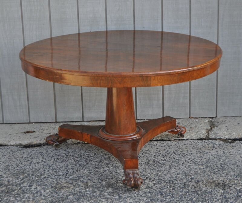 Period 19th C. Regency/Classical Round Center/Breakfast Table
