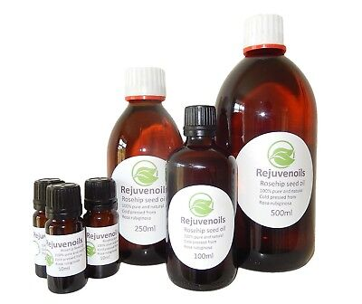 COLD PRESSED UNREFINED 100% PURE ROSEHIP SEED OIL - VARIOUS SIZES