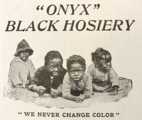 "1897""ONYX""FAST BLACK Vtg Hosiery Print Ad~Cute Little Boys WE NEVER CHANGE COLOR"
