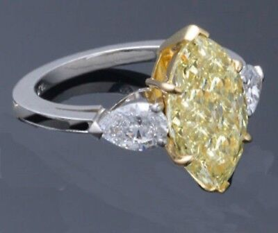 1.41 Ct Marquise Cut Diamond Engagement Ring - GIA