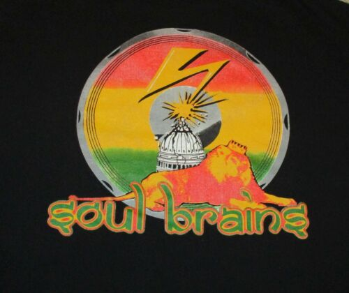 USED 1999 SOUL BRAINS XLg T shirt HR Bad Brains Reggae Ska Punk