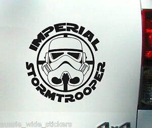 Star Wars Stormtrooper Black Vinyl Window Car 4x4 Decal Stickers suit JDM V8