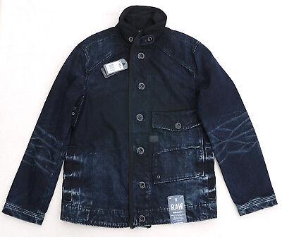 Used, G STAR RAW Coban Rail Jacket Hydrite Denim Coat Dark Black Aged Cotton Rare Mens for sale  San Francisco