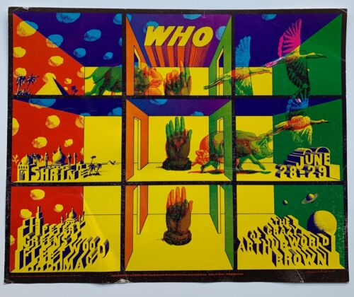 The Who Pinnacle Concert Poster with Peter Green's Fleetwood Mac