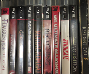 Sony PlayStation 3 Video Games - EUC $5 each or 5 for $20