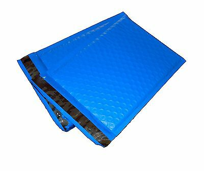 50 4x8 BLUE Poly Bubble Mailer Envelope Shipping Wrap Air Mailing Bags 4x8