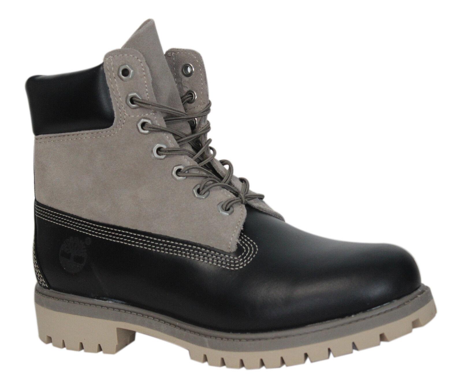 Detalles de Timberland Fg 6 Pulgadas Premium Botas de Cuero Negro Hombres con Cordones ante