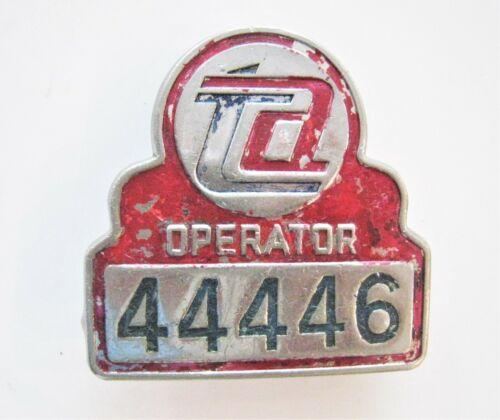 Vintage New York City Badge TA Transit Bus Operator 44446