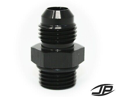 ORB-6 O-ring Boss AN6 6AN  to AN6 6AN  Male Adapter Fitting Black