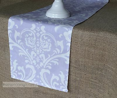 Lavender Table Runner Purple Wisteria Floral Table Centerpiece Home Decor Linens