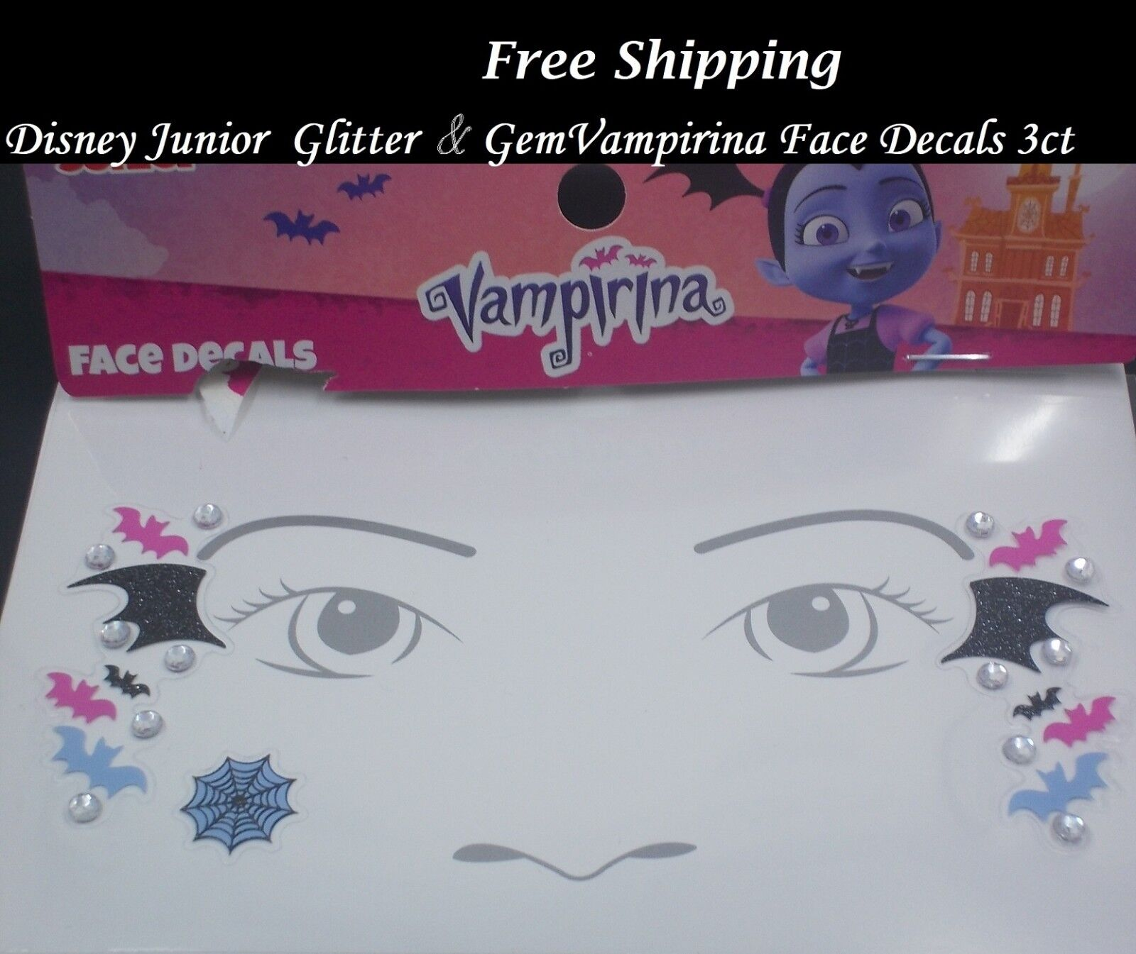 Vampirina Bracelets 3ct Disney Junior Party Favors//Supplies