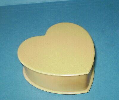 vtg Celluloid HEART Shape Jewelry Box   Vanity Dresser