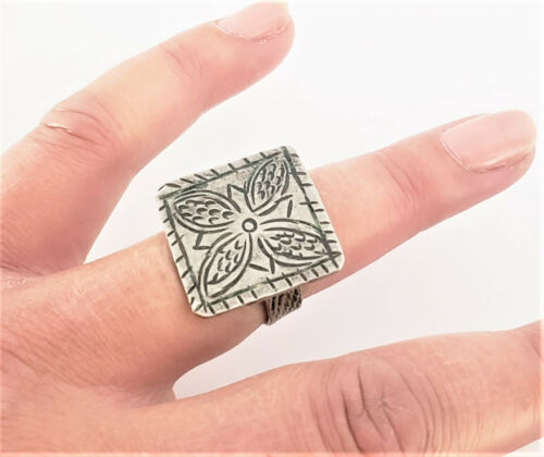 Moroccan antique Tuareg Hand Made SILVER RING tribal jewelry
