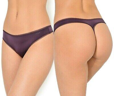 DKNY Litewear Low-Rise Mesh-Trim Thong DK5001 Aubergine Dark, Womens Size Large Mesh Low Rise Thong Panty