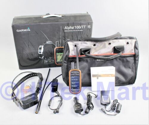 Garmin Alpha 100 TT15 Multi-Dog Tracking GPS and Remote Training Device