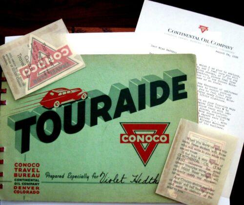 "1938 Booklet Titled ""Touraide"" Prepared by ""Conoco"" Travel Bureau *"