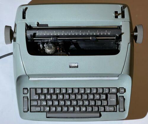 1960s IBM Selectric model 71 Mint Green with Prestige Elite 72 Excellent