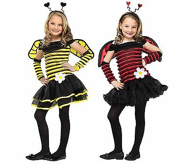 Lovely Lady Bug Kostüme (NWT LOVELY LADYBUG OR BUSY BEE GIRLS HALLOWEEN COSTUME - BUMBLE HONEY BEE 3T 4T)