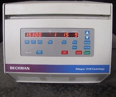 Beckman Coulter Allegra 21r Centrifuge W Rotor- Cat 367570 1501