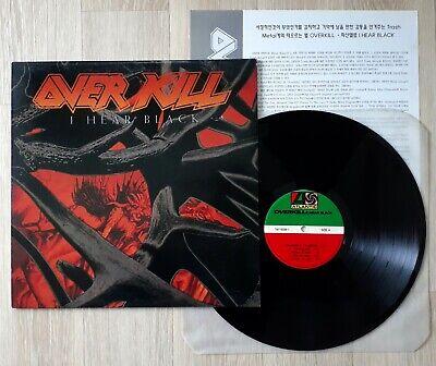 OVERKILL I Hear Black Original Korea 1st Press Atlantic 1993 MINT!!