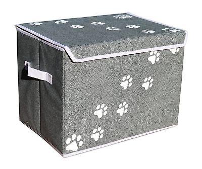 """Feline Ruff Large Dog Toys Storage Box 16"""" x 12"""" Pet Toy Storage Basket with"""