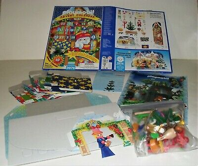 Playmobil #3976 Christmas Market Scene Santa Toys 1999 Advent Calendar 3 III Set