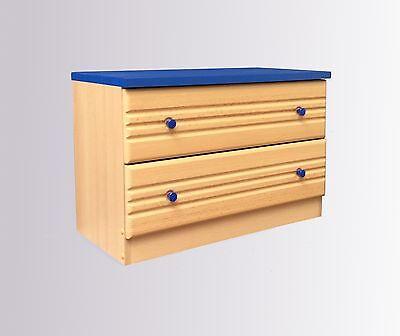 Kommode Schrank Garderobenschrank Buche Blau Flur Diele Unterschrank ()