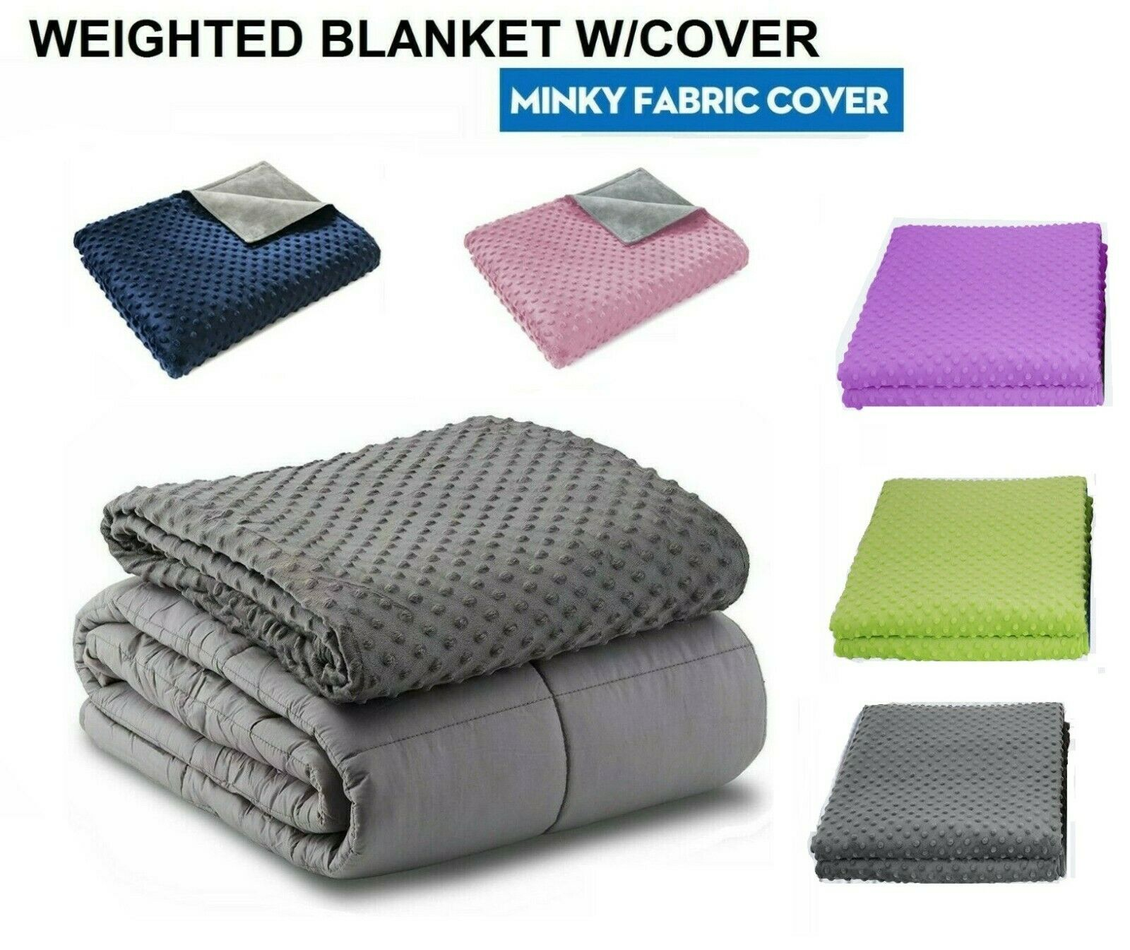 Weighted Blanket Adult Sensory Anxiety/ Mink Duvet 15 lbs 20