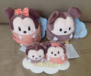 New Disney Ufufy Mickey Mouse and Minnie Mouse Small Plush  with tags