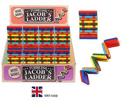Traditional WOODEN MINI JACOBS LADDER Stocking Filler Magic Autism Fidget Toy UK
