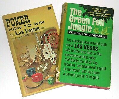 *2* Green Felt Jungle & How to Win the Las Vegas Way; Endorsed Nick the Greek