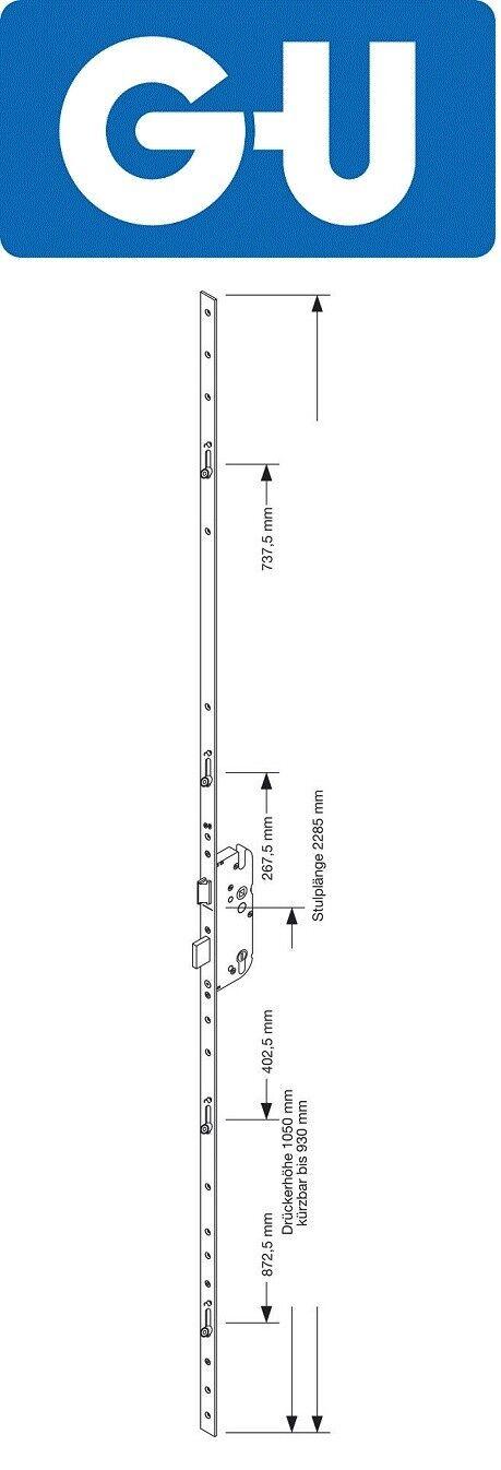 GU Haustürverschluss Secury R4 Mehrfachverriegelung 65 92 10  F16 F20 silber