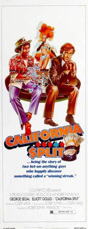 CALIFORNIA SPLIT Movie POSTER 14x36 Insert George Segal Elliott Gould Ann