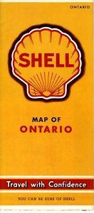 1940 Shell Road Map: Ontario Canada NOS