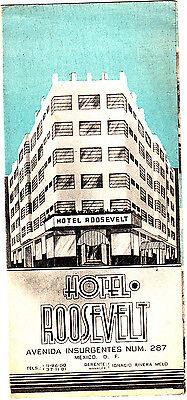 Hotel Roosevelt Avenida Insurgentes #287 Mexico City DF Vintage Brochure