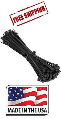 500 8 Inch Nylon Zip Cable Ties Wire Tie Wraps 18 Lbs Black Uv Resistant Usa