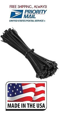 100-pack Heavy Duty 14 120 Pound Cable Zip Tie Down Strap Wire Nylon Wrap Black