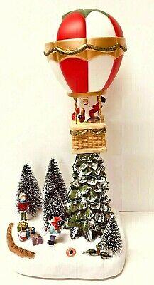 LED Musical Christmas Hot Air Balloon Village Scene