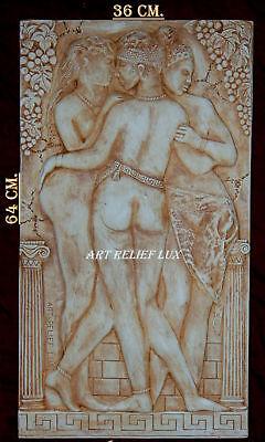 RELIEF ANTIK STYLE WANDRELIEF WANDBILD GIPS FLACHRELIEF GRIECHISCHE MYTHOLOGIE