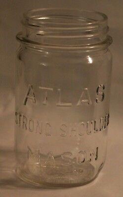 Hazel Atlas Strong Shoulder Mason 1 Pint Clear Glass Vintage Canning Regular Rim