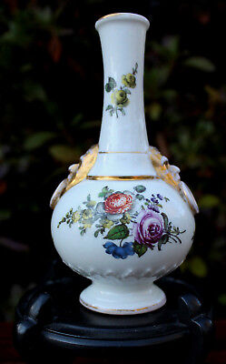 """4.5"""" T LATE 18TH - EARLY 19TH CENTURY OLD KPM BERLIN GERMAN PORCELAIN VASE FACES"""
