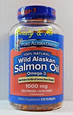 Pure Alaska Omega-3 Wild Alaskan Salmon Oil  1000mg Softgels