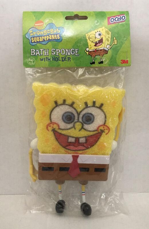 Nickelodeon SpongeBob SquarePants Bath Sponge With Pants Holder Vintage 2002