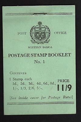 SAMOA 1962 11/9d COMPLETE BOOKLET SB8.