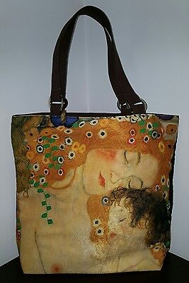 GUSTAV KLIMT shoulder TOTE BAG SHOPPER FINE ART PRINT polyester microfiber purse